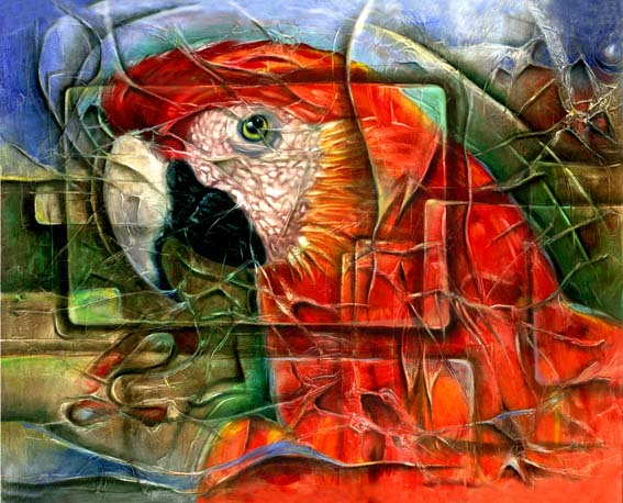 macaw_parrot_arara_quadro_pintura_painting